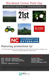 Cover photo for Blackland Cotton Field Day - September 21, 2017