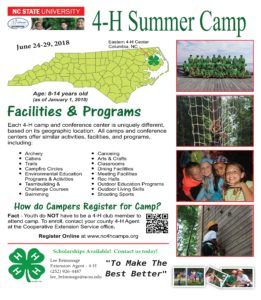 Cover photo for 2018 4-H Summer Camp