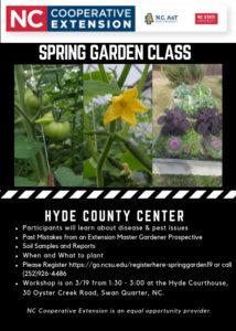 Hyde Spring Garden flyer