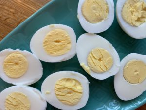 Hard boiled eggs, two ways