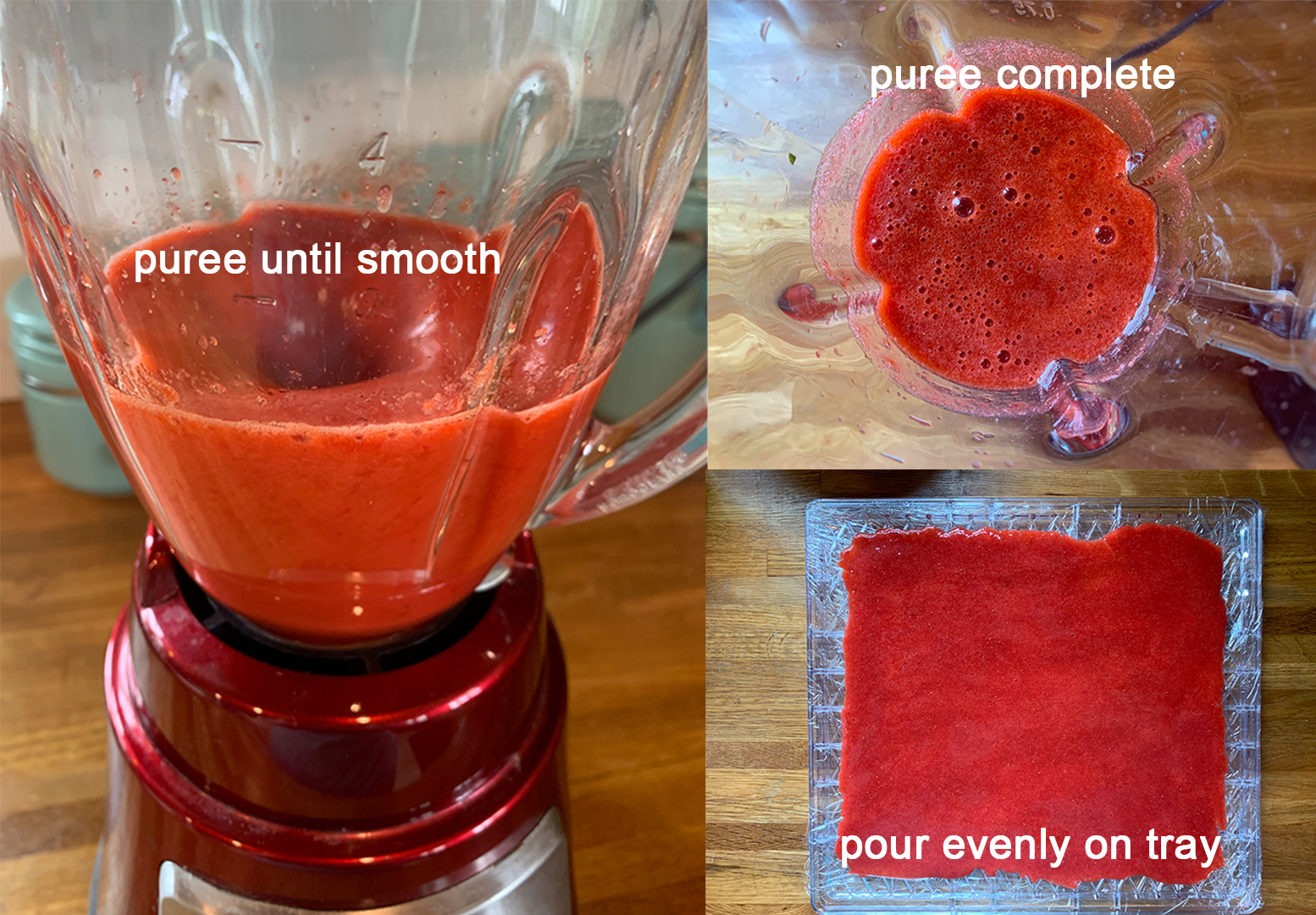Puree fruit until smooth