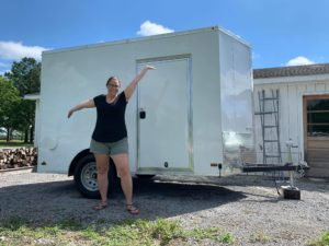 Mobile refrigerated local foods trailer