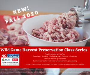 Wild Game Harvest Preservation Class Series