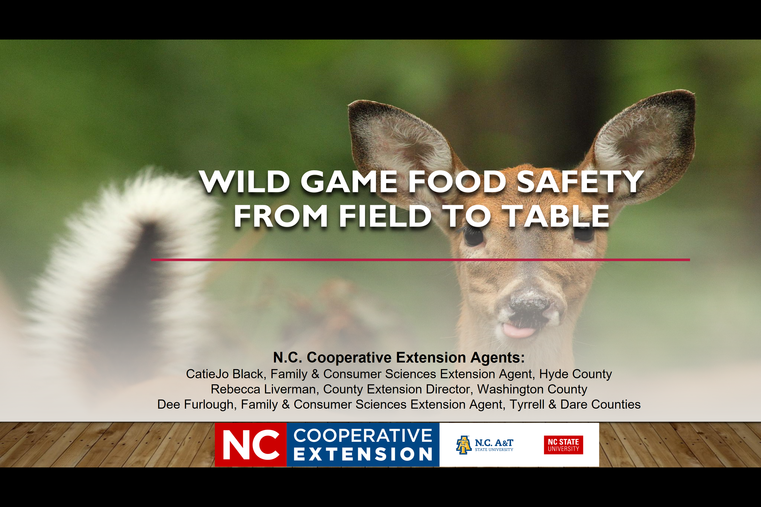 Wild Game Food Safety - From Field to Table