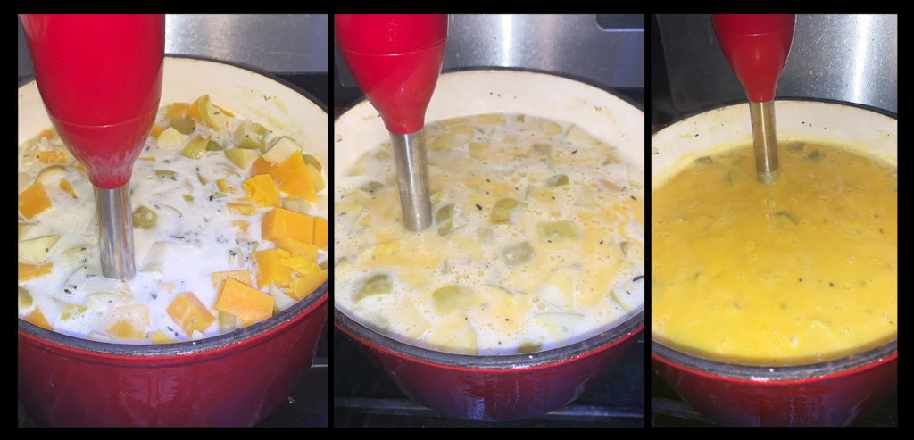 Butternut Squash and Apple Soup Blending