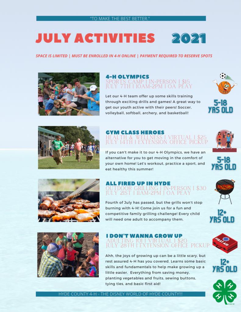 June activities page 2
